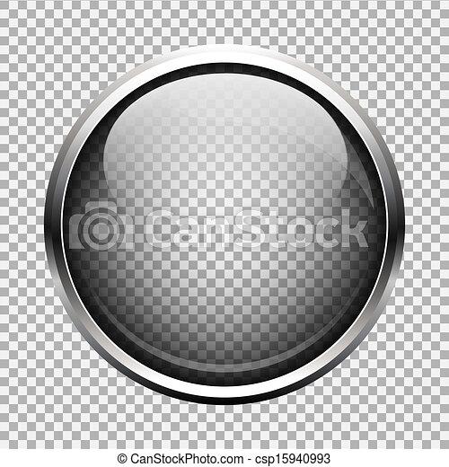 vidro, botão, transparente - csp15940993