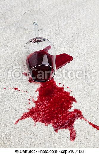 vidro, carpet., sujo, vinho tinto - csp5400488