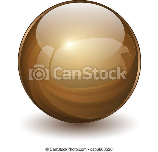 vidro, esfera - csp6660538