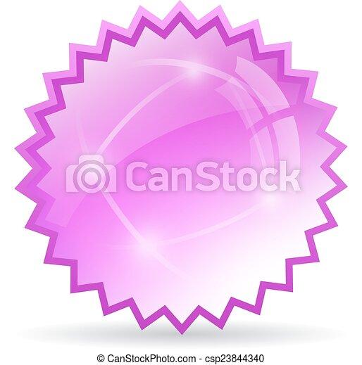vidro, estrela, ícone - csp23844340