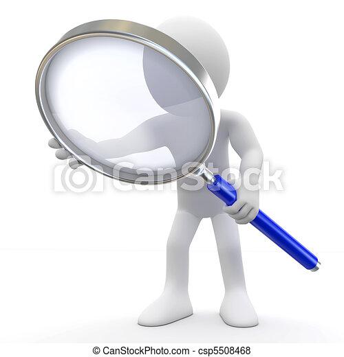 vidro, magnificar, homem - csp5508468