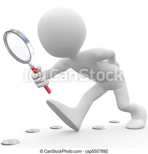 vidro, magnificar, homem - csp5507892