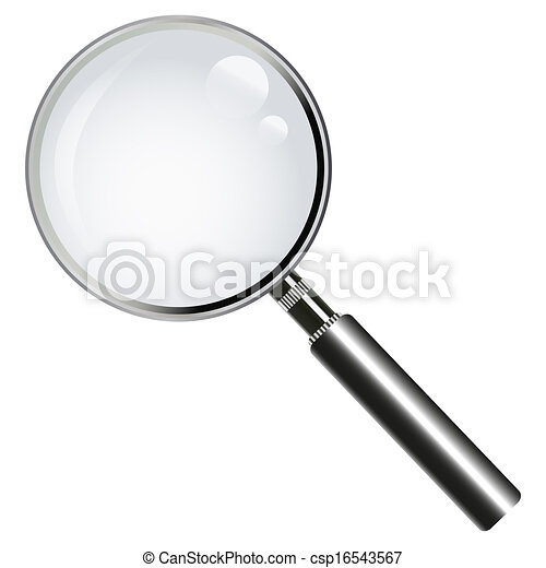 vidro, magnificar - csp16543567