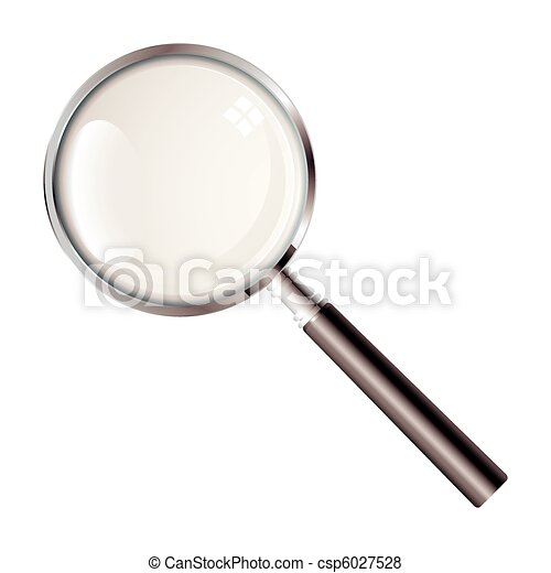 vidro, magnificar - csp6027528