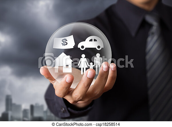 vie, concept, assurance - csp18258514