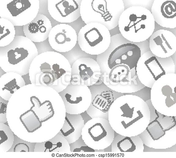 vie, concept, réseau, reference., social, nuage - csp15991570