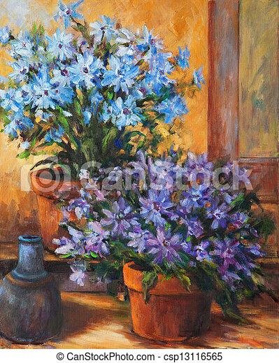 vie, encore, fleurs, cruche - csp13116565