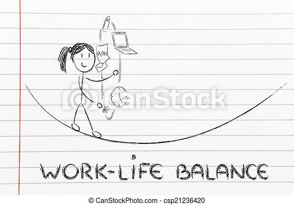 vie, fonctionnement, &, diriger, ju, travail, responsibilities:, mère, équilibre - csp21236420
