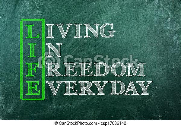 vie, liberté - csp17036142