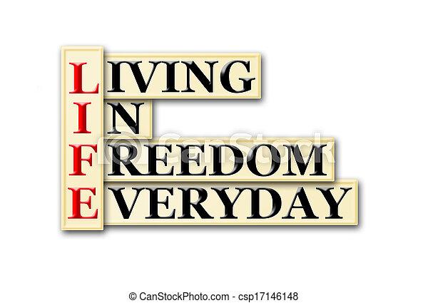 vie, liberté - csp17146148