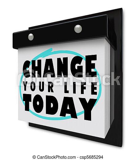 vie, mur, -, aujourd'hui, calendrier, ton, changement - csp5685294