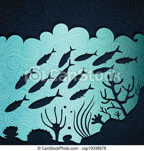 vie, océan - csp10038678