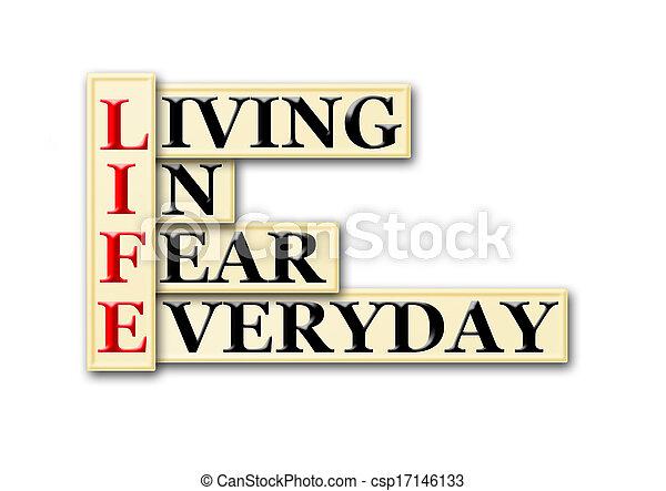 vie, peur - csp17146133