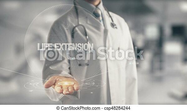 vie, possession main, extension, docteur - csp48284244