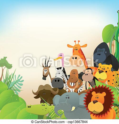 vie sauvage, animaux, fond - csp13667844