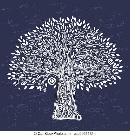 vie, unique, arbre, ethnique - csp29511814