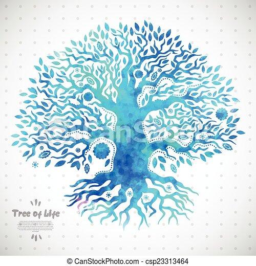 vie, unique, arbre, ethnique - csp23313464