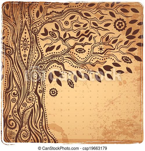 vie, unique, arbre, ethnique - csp19663179