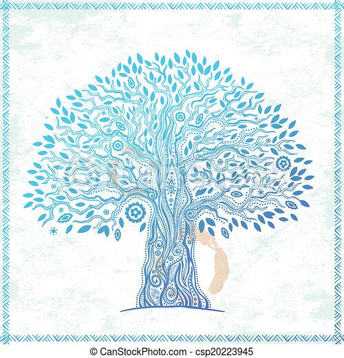 vie, unique, arbre, ethnique - csp20223945