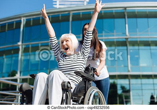 vieilli, être, magnifique, personne, femme, vibrant, sincère - csp49232556