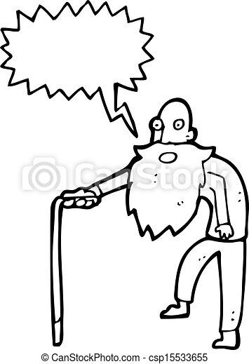 Viejo Cartoon - csp15533655