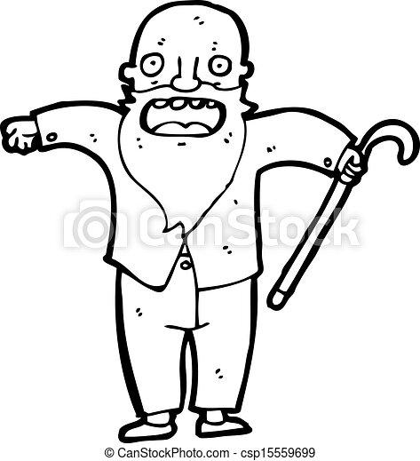 Viejo Cartoon - csp15559699