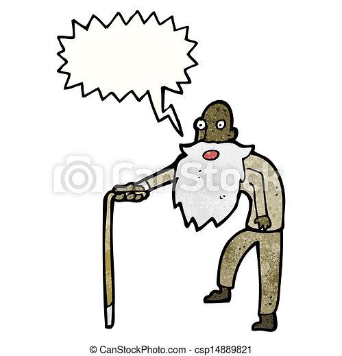 Viejo Cartoon - csp14889821