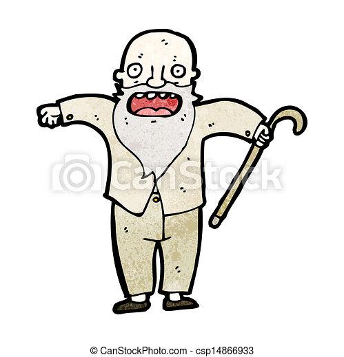 Viejo Cartoon - csp14866933