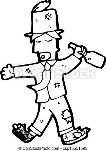 # --> almohadilla / numeral / hash Viejo-caricatura-vagabundo-borracho-dibujo_csp15551595