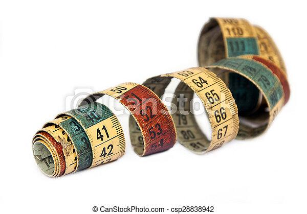 Una vieja cinta métrica - csp28838942