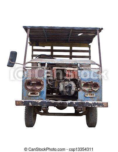 Un auto viejo. - csp13354311