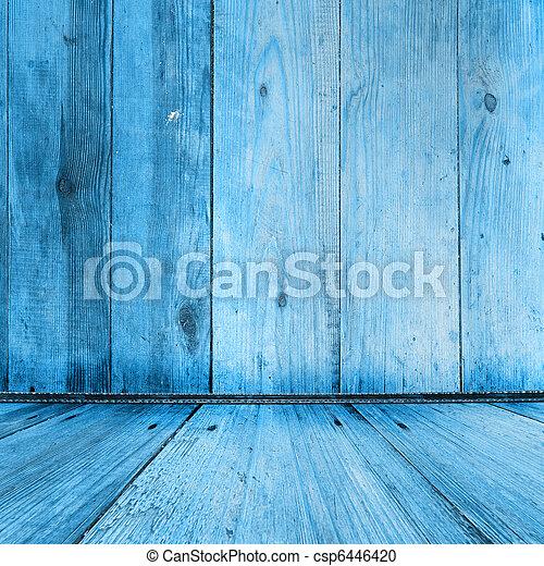 Vieja habitación con papel pintado y antigua belleza - csp6446420