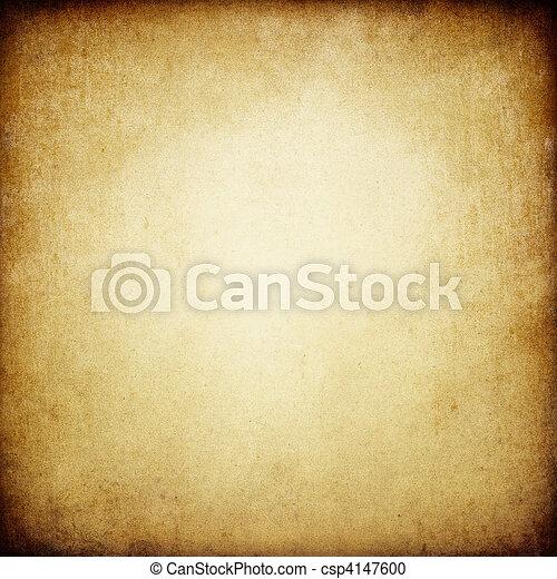 La textura del viejo papel quemado. Con espacio para texto o imagen. - csp4147600