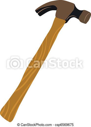 viejo, martillo - csp6569675