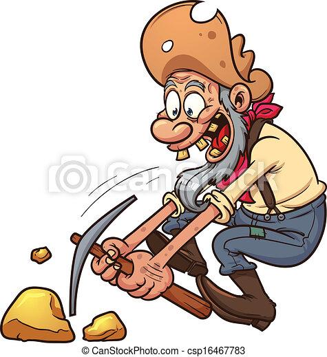 Viejo minero de oro - csp16467783
