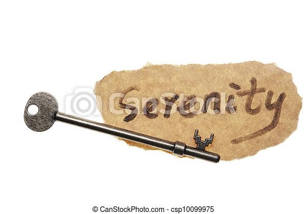 La vieja palabra clave y serenidad - csp10099975