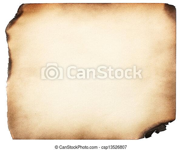 Papel quemado - csp13526807