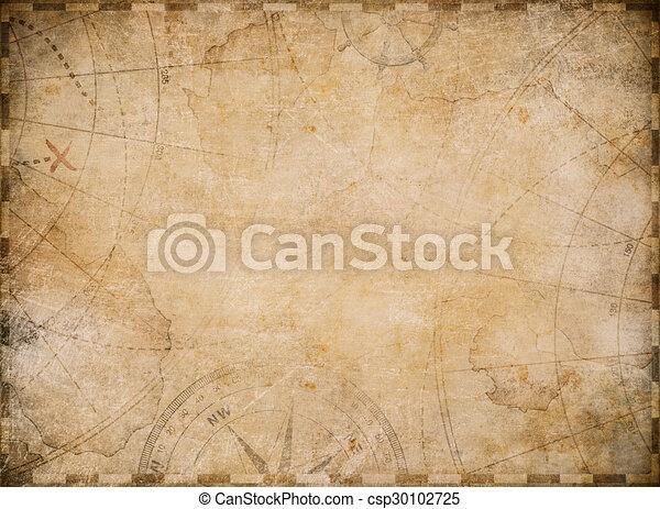 Antiguo fondo de mapa náutico - csp30102725