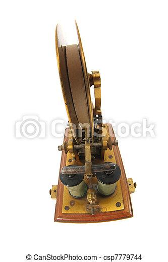 viejo, telégrafo - csp7779744