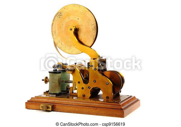viejo, telégrafo - csp9156619