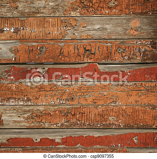 Vieja textura de madera pintada - csp9097355