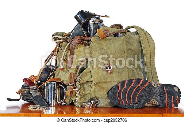 El viejo equipo de viajeros - csp2032706