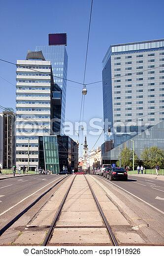 vienna., 市の, 風景 - csp11918926