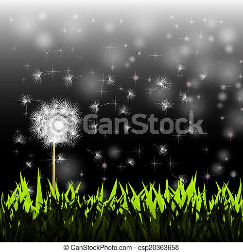 Dandelion en el viento - csp20363658