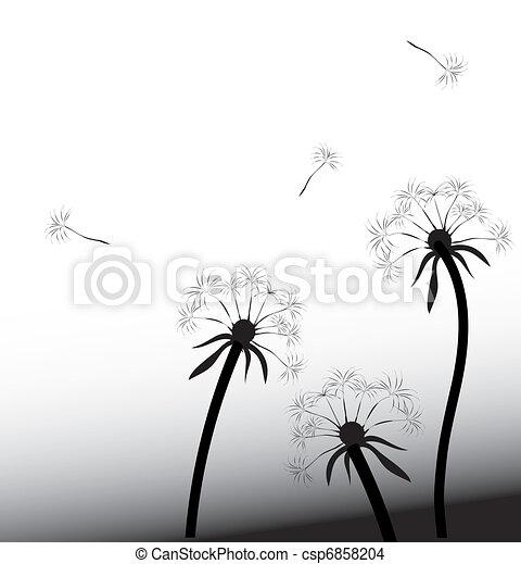 Dandelion en el viento - csp6858204