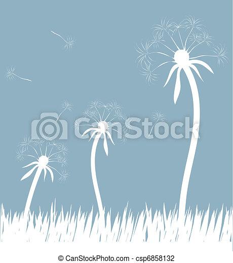 Dandelion en el viento - csp6858132