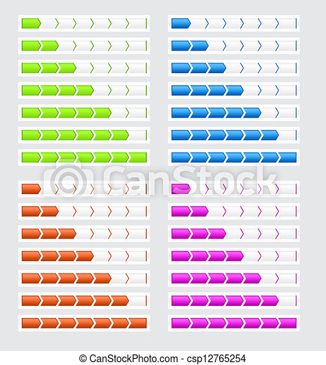 Vier, fortschritt, stäbe, farben, websites Clipart Vektor - Suche ...