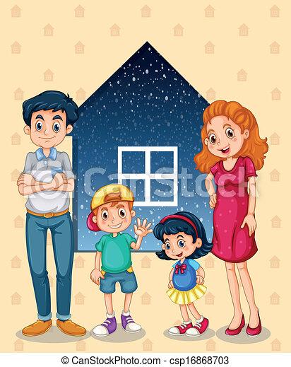 vier, huisgenoten - csp16868703