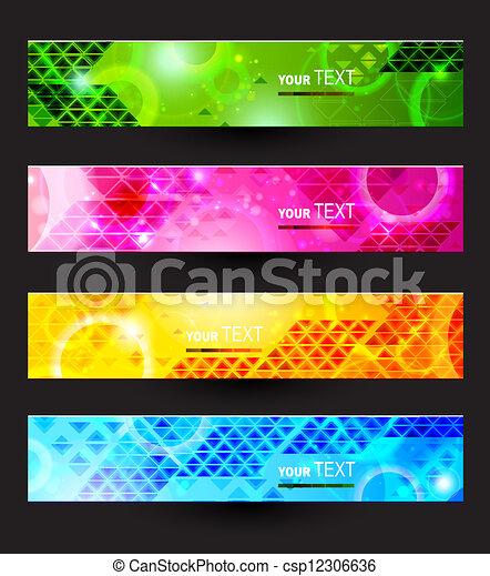 Kopfzeilen mit vier Farben - csp12306636