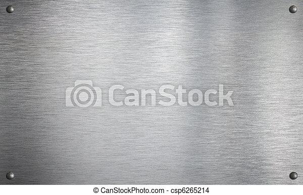 Metallplatte mit vier Nieten - csp6265214